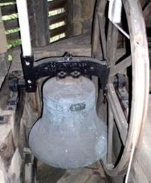 One of the three surviving Rudhall bells – the old Second